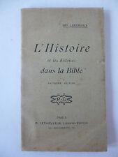 LANDRIEUX. L'Histoire et les histoires dans la Bible