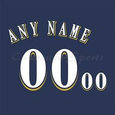 Béisbol Milwaukee Brewers Azul Marino Jersey número Personalizado Kit sin costura