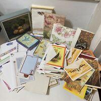 Vintage Ephemera Lot Stationery Envelopes Note Pads & Card Greeting Cards 10+lbs