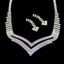 Alloy Rhinestone Costume Jewellery Sets