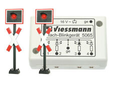Viessmann 5060 Andreaskreuze mit Blinkelektronik, 2 Stück, 36 mm  +++ NEU in OVP