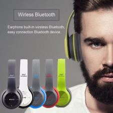 Wireless Bluetooth Headphones Microphone Portable Stereo FM Headset Over Ear US