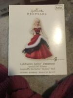 Barbie HALLMARK Keepsake 2007 CELEBRATION BARBIE Holiday Doll CHRISTMAS ORNAMENT