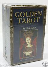 GOLDEN TAROT BY KAT BLACK 78 CARD DECK 198 PAGE GUIDE BOOK GUILT EDGES NIB