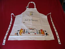 Cat Bar-B-Queue Design 100% Cotton Apron Vet Cattery Mum Dad Christmas Gift NEW