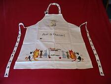 Cat Bar-B-Queue Design 100% Cotton Apron Vet Cattery Mum Dad Christmas Gift NEW