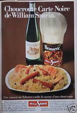 PUBLICITÉ 1980 CHOUCROUTE WILLIAM SAURIN - ADVERTISING