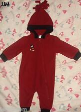 @ DISNEY STORE MICKEY MOUSE RED FLEECE COVERALL/BUNTING/SNOWSUIT**3-6M OR 6-12M