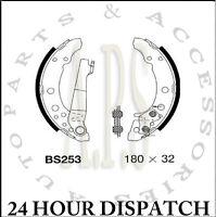 Peugeot 607 Saloon 6//2000-2009 Rear Hand Brake Shoes Diameter 185mm