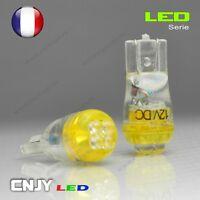 2 AMPOULE 4 LED RONDE T10 CULOT W5W WY5W W3W W2.1x9.5d ORANGE AMBER XENON 60°12V