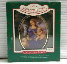 Hallmark Madonna & Child Infant St John Ornament 1986 Art Masterpiece 3rd Series