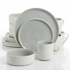 Urban Loft Denia 16-Piece Stoneware Dinnerware Set with Service for 4 Blue White