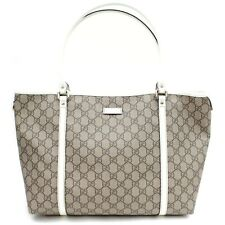 Authentic Gucci Tote Bag GG Supreme Browns PVC 1600937