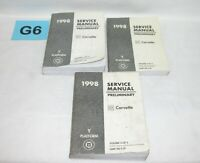 1998 Chevrolet Corvette Factory Preliminary Service Manual Set USED #G6