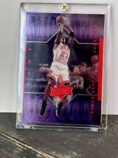 Michael Jordan Card - Refractor - SP FOIL HOLO - PURPLE - RED -BULLS JERSEY #23