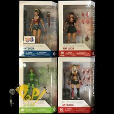 "DC Comics BOMBSHELLS 6.75"" Action Figure SET Batwoman HARLEY Ivy WONDER WOMAN!"