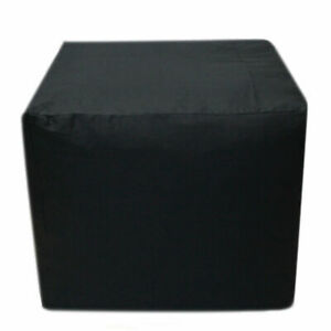 "18X18X18"" Indian Cotton Square Pouf Cover Black Pouf Ottoman Foot Stool Covers"
