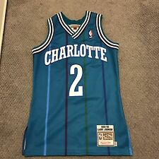 Authentic throwback nba jersey Charlotte Larry Johnson Size Small