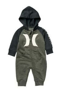 Hurley Baby Boys Hooded Coverall Jumpsuit - New with tags!