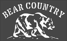 1- 5x8 inch Custom Cut Stencil, (ZA-31) Bear Country, Free Shipping