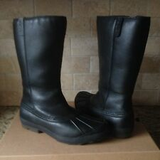 UGG BELFAIR BLACK TALL WATER-PROOF LEATHER RAIN SNOW BOOTS US 6 WOMENS