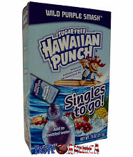 Hawaiian Punch Wild Purple Smash Singles To Go Drink Mix 21g Box