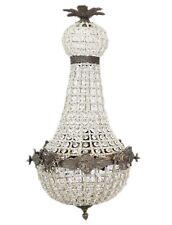 LIGHTING CRYSTAL BRASS CHANDELIER 65 cm  ANTIQUE