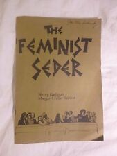The Feminist Seder by Sherry Flashman & Margaret Fuller Sablove 1976 rare