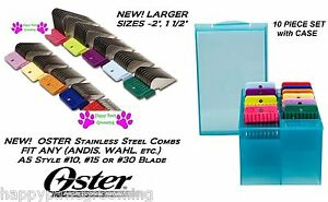 OSTER A5 STAINLESS STEEL ATTACHMENT GUIDE COMB SET*Fit Many Andis Clipper&Blade
