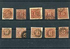 Bayern - 10 mal Nr. 4  o - undurchsucht ( 13746 )