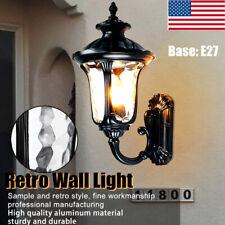 E27 Retro Lantern Antique Vintage Rustic Lamp Wall Sconce Light Fixture Outdoor