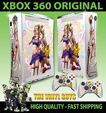 XBOX 360 VECCHIO Forma Lollipop MOTOSEGA LUCE CUORI ADESIVO SKIN e 2 SKIN PER PAD