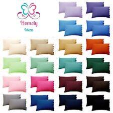 Viceroy Bedding Egyptian Cotton Plain Pillow Cases - 65x65cm, White