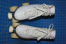 Chicago Women's Leather Lined Rink Skate White size 9 Free Shipping