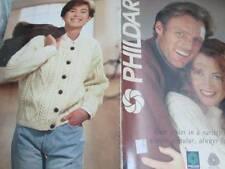 Phildar ARAN STYLES Knitting Book #722 -Men/Women/Children Designs -All Designs