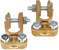 2x Brass Battery Terminals Connectors Clamps Top Post Battery Terminal Protector