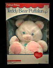 Vintage 1989 Fisher Price Teddy Bear Puffalump White Bear And Box 1370