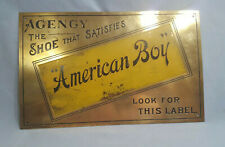 """American Boy""  Shoe's,  Brass Sign"