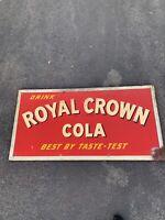 Vintage Royal Crown Cola SODA SIGN 70.25x36.25