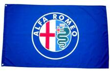 FREE SHIP TO USA Big NEW ALFA ROMEO BLUE FLAG BANNER SIGN 3X5 FEET MITO BRERA