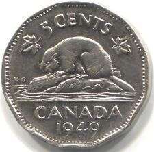 1949 CANADA FIVE CENTS Coin