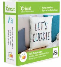 MARKET STREET FONTS Cricut Cartridge New in Sealed Package
