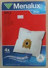 Menalux MIELE 3101 Pack of 4 Vacuum Bags Plus 2 Filters for Various Models NEW