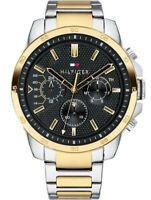 BRAND NEW TOMMY HILFIGER GOLD PLATED STAINLESS STEEL BRACELET MEN WATCH 1791559
