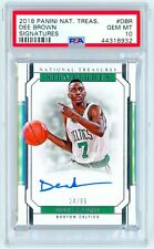 DEE BROWN 2018 Panini National Treasures #DBR SIGNATURES /99 PSA 10 AUTO SIGNED