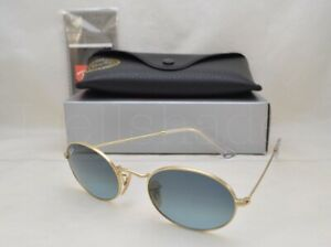 Ray Ban OVAL (RB3547-001/3M 51) Gold with Blue Gradient Grey Lens