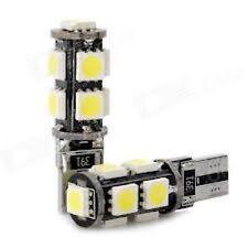 COPPIA LAMPADINE 2 LAMPADE T10/W5W 9 LED SMD-5050 NO ERRORE ERROR CHECK CANBUS