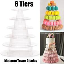 1Pcs 6 Tier Pro Macaron Tower Cake Stand Display Rack for Wedding Birthday New