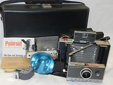 Excellent Polaroid Automatic 100 Land Camera Bundle w/ Extra Accessories Case
