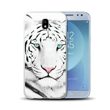 Coque Samsung Galaxy J 5 ( Modele 2017 ) - Motif Tigre Blanc - Silicone